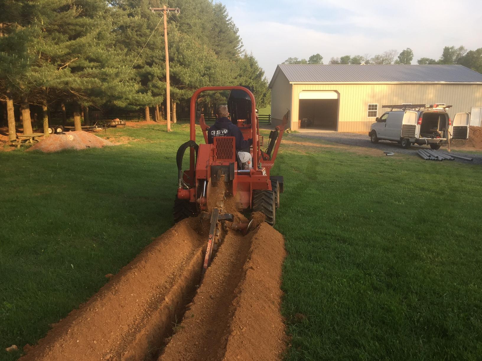 Trenching – Potomac Edison Install