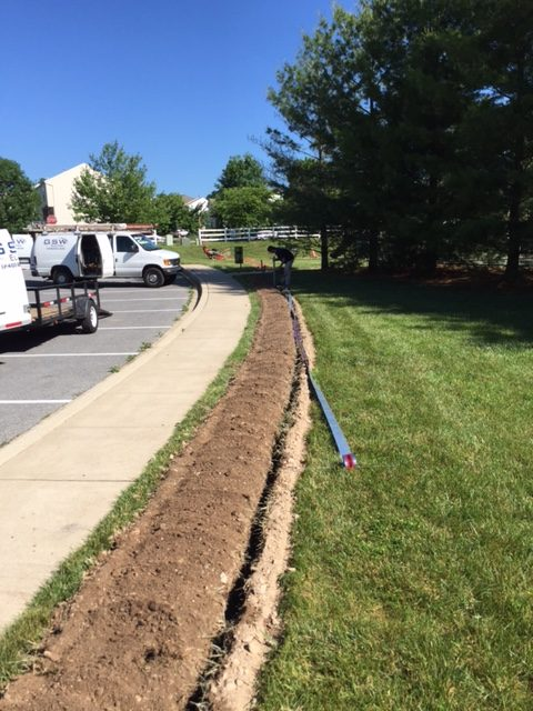 Trenching & Light Pole Installation – Mount Airy, MD | GSW